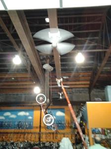 spinning fans